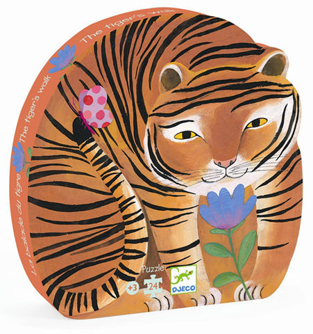Djeco Puzzle The Tiger's Walk 24pc - K and K Creative Toys