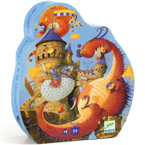 Djeco Puzzle Valiant and the Dragon 54 pc - K and K Creative Toys