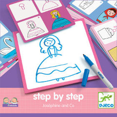 Djeco Step by Step Drawing Josephine - K and K Creative Toys