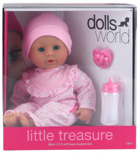 Dolls World Doll Little Treasure Light Pink Jumpsuit - K and K Creative Toys