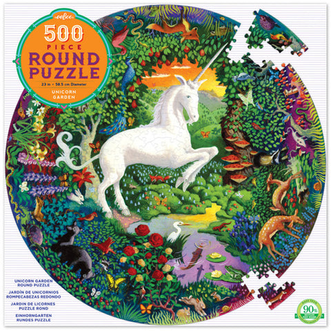 eeBoo 500 pc round puzzle - Unicorn