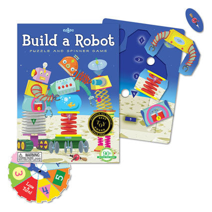 Eeboo Build a Robot Spinner Game - K and K Creative Toys