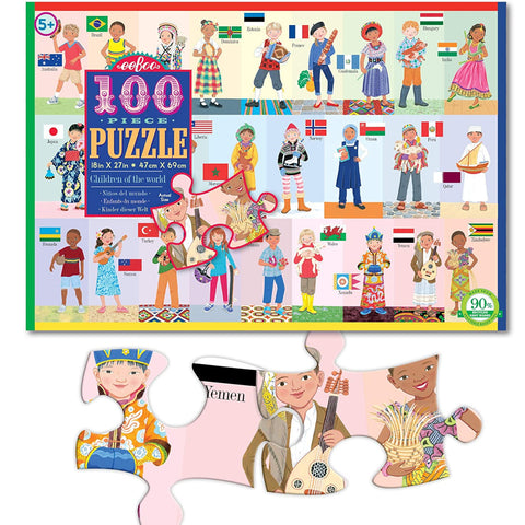 Eeeboo Puzzle Children of the World 100pc