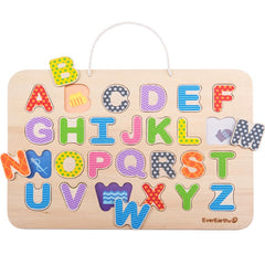 EverEarth Puzzle Alphabet & Magnetic Drawing Board Wooden