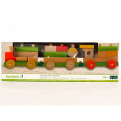 EverEarth Sorting Train Blocks Wooden 2