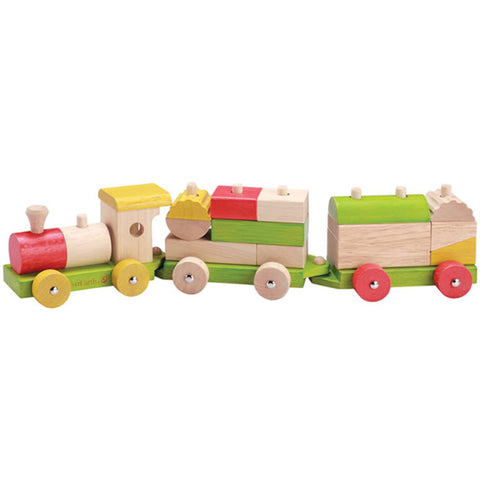 EverEarth Sorting Train Blocks Wooden
