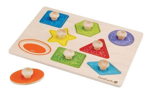Everearth Puzzle Knob Shapes 8pc - K and K Creative Toys