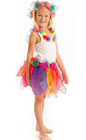 Fairy Girls Dress Up Pixie Skirt Rainbow
