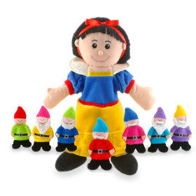 Fiesta Crafts Hand and Finger Puppet Set Snow White and Dwarfs
