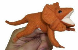 Animals of Australia Finger Puppet Frilled Neck Lizard