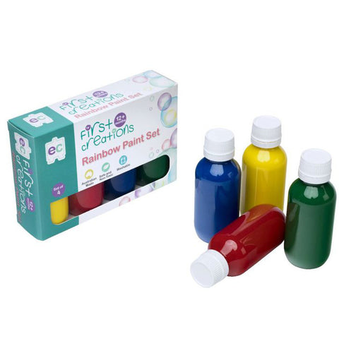 First Creations Paint Set Rainbow 4 Colours