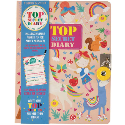 Floss & Rock Diary Lockable Rainbow Fairy