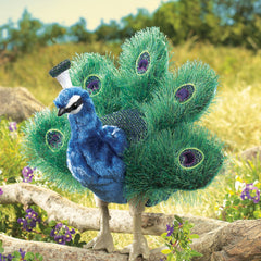 Folkmanis Hand Puppet Peacock Small 1