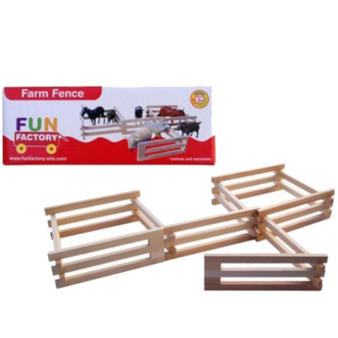 Fun Factory Farm Fence Wooden