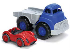Green Toys Flatbed Truck with Red Race Car