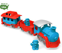 Green Toys Train Blue with Carriages