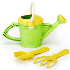 Green Toys Watering Can with Garden Tools