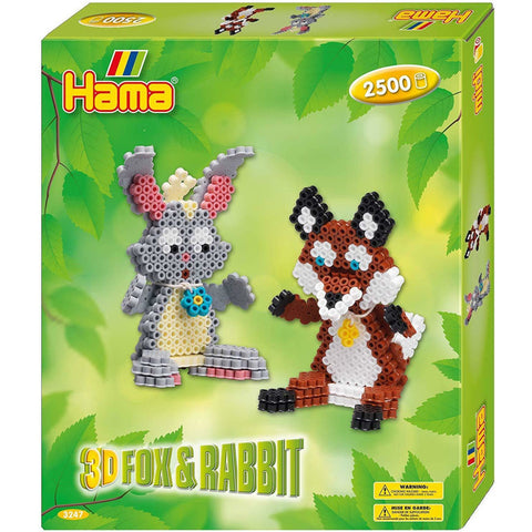 Hama Beads Gift Box Fox and Rabbit 3D
