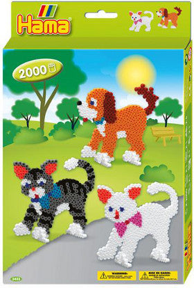 Hama Beads Dog and Cat 2000 Boxed