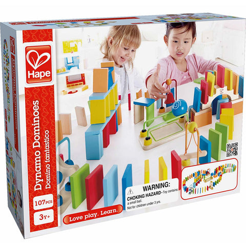 Hape Dynamo Dominoes Wooden 107pc