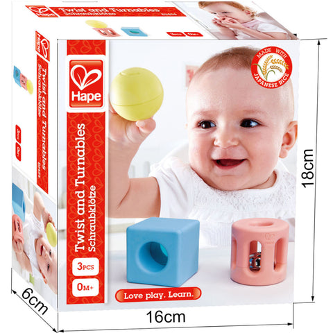 Hape Geometric Rattle 3pc