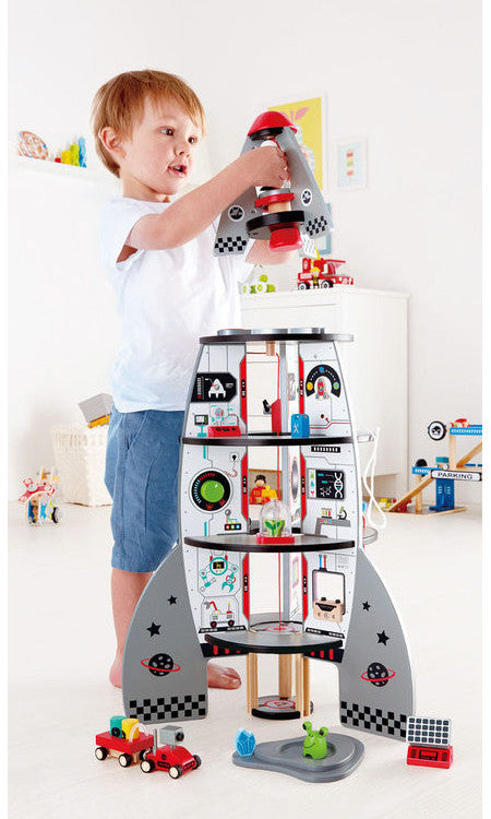 Hape Rocket Ship Four-Stage Wooden 2