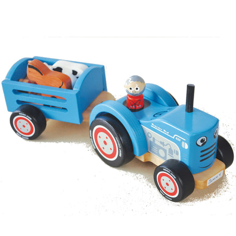Indigo Jamm Tractor Ted Wooden with 5 Animals
