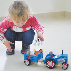 Indigo Jamm Tractor Ted Wooden with 5 Animals 5