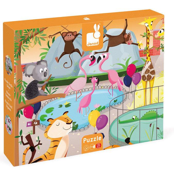 Janod Puzzle Tactile Zoo 20pc