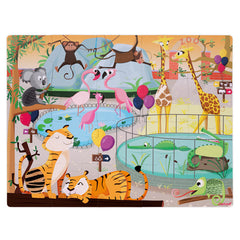Janod Puzzle Tactile Zoo 20pc 3