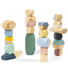 Janod Cocoon Stones Wooden 20pc 1