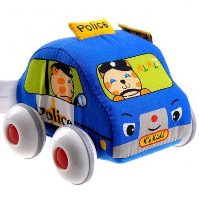 K's Kids Car Pull Back Auto Soft Car Police Car
