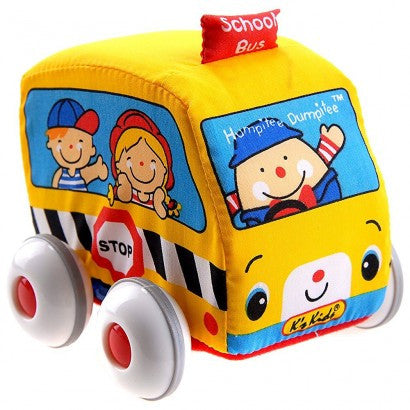 K's Kids Car Pull Back Auto Soft Car School Bus