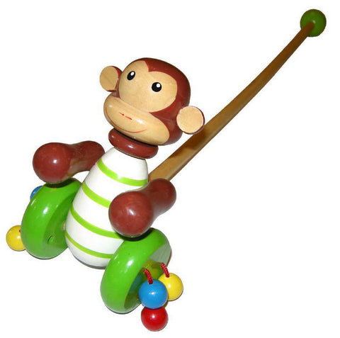 Kaper Kidz Push Along Monkey Wooden
