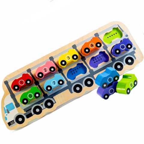 Kiddie Connect Puzzle 1 – 10 Car Wooden