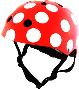 Kiddimoto Helmet Red Dotty