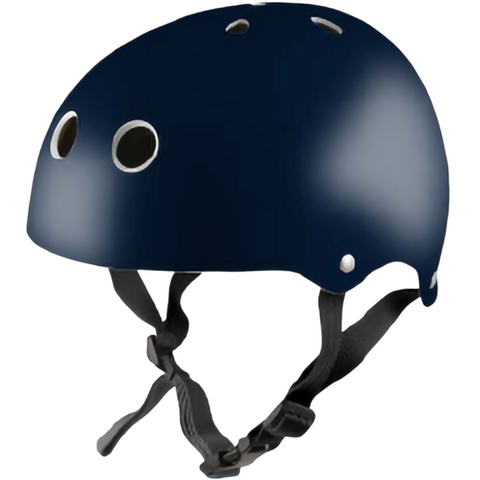 Kiddimoto Helmet Metallic Navy Medium