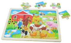 Masterkidz Puzzle Farm Wooden 20pc