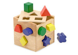 Melissa and Doug Shape Sorting Cube Wooden