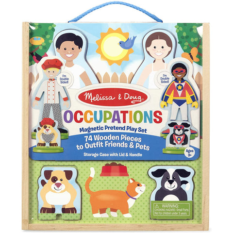 Melissa & Doug Occupations Magnetic Play Set Wooden 74pc 2