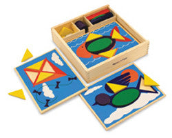 Melissa and Doug Beginner Pattern Blocks Wooden