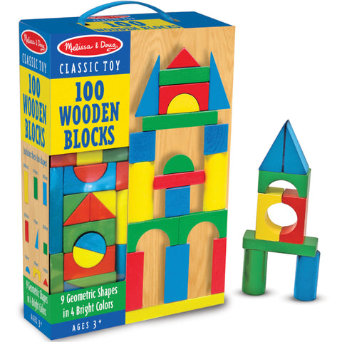 Melissa & Doug Blocks Wooden 100pcs in Box