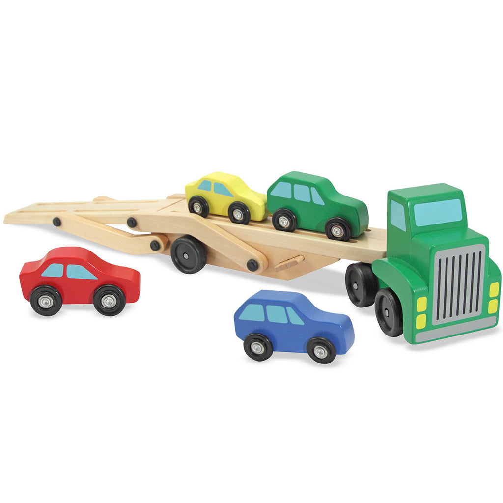 Melissa & Doug Car Carrier with 4 Cars Wooden 2