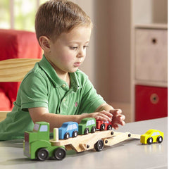 Melissa & Doug Car Carrier with 4 Cars Wooden 3