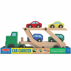 Melissa & Doug Car Carrier with 4 Cars Wooden 1