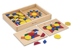 Melissa and Doug Pattern Blocks and Boards Wooden