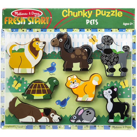 Melissa & Doug Puzzle Chunky Pets Wooden