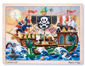 Melissa and Doug Puzzle Pirate Adventure Wooden 48pc