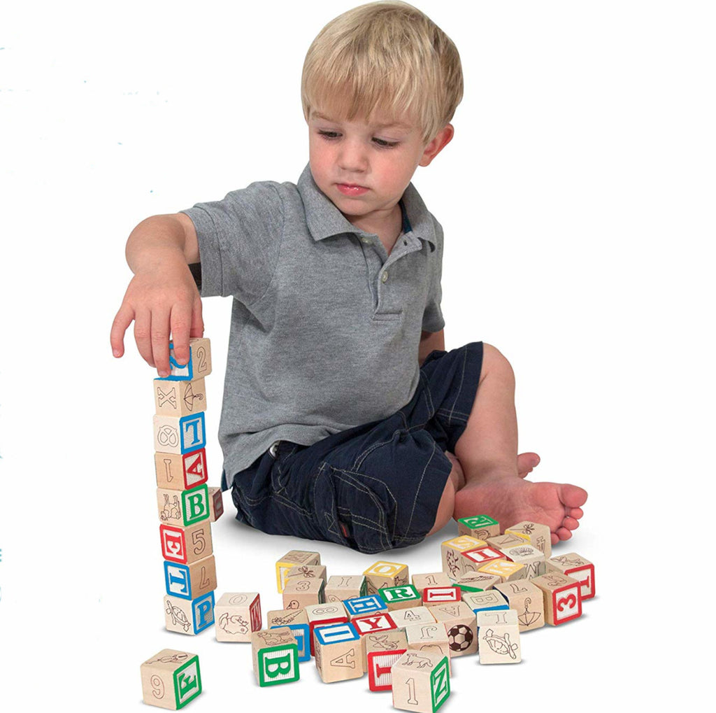 Melissa and Doug Blocks Wooden ABC &123 1