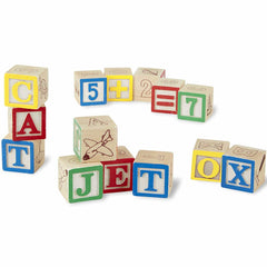 Melissa and Doug Blocks Wooden ABC &123 2
